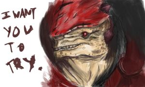 Wrex - I want you to try. by thundermistress