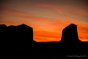 Sunset in Monument Valley 3 by Mac-Wiz