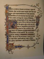 Royal Scrivener Scroll, Spring Coronation '12 by Merwenna