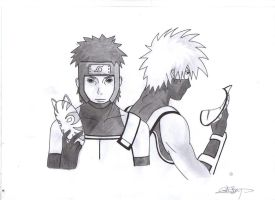 Kakashi and Yamato Anbu by Akujo-Cat
