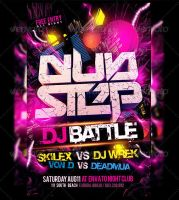 Dubstep Dj Battle Flyer Template by Industrykidz