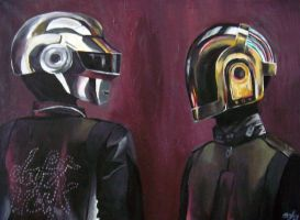 Daft Punk Painting by Bonnivyre