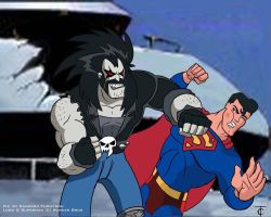 Superman vs Lobo by CamT
