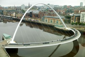 The Millennium Bridge from the Baltic Centre 0 by eScargo