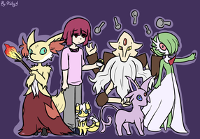 Psai Pokemon Team by Kaitogirl