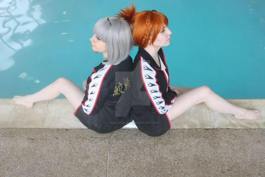 Momo and Nitori by KisaCosplay