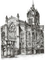 St Giles Cathedral by bigpurple