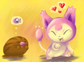 Skitty and Swinub by PacificPikachu