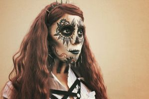 Steampunk Sugarskull by MUA-Maano