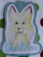 GoldFox's Badge by RoseHexwit
