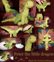 Crochet Dragon: Peter by FeatheredDragon