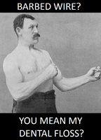 just overly manly man... by palaeorigamipete