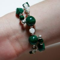 Malachite and Howlite, view 2 by starglo21