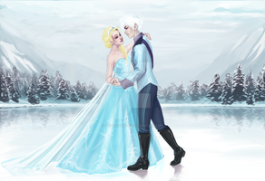 Jack and Elsa Commission by KamikazeWalrus