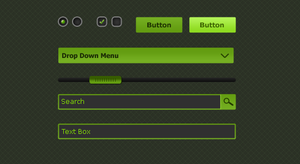 Green UI Elements by terrenceforever