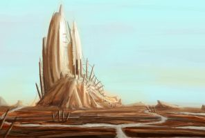 Meagron Tower Speedpaint by Tryingtofly