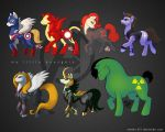 Avenger Ponies (Full Cast) by MegSyv