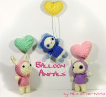 Hooded Balloon Animals - Amigurumi Pattern by milliemouse579