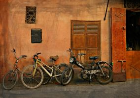 Bikes in Marrakesh, Morocco by SHParsons