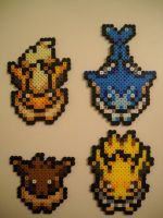 Overworld Eevee Flareon Vaporeon Jolteon by RetroNinNin