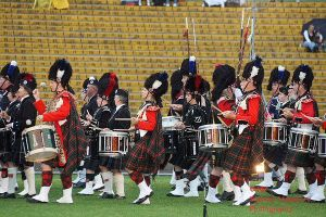 Massed pipes and drums tattoo by Nanakiwi
