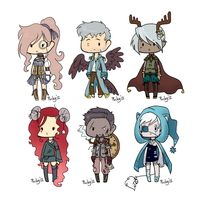 :Chibi Adopts: Set D -CLOSED- by oddlittleleaf
