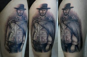 Clint Eastwood Tattoo by Moviemetal3