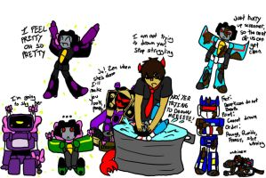 Bathing Bitty Bots by NimbusPrime