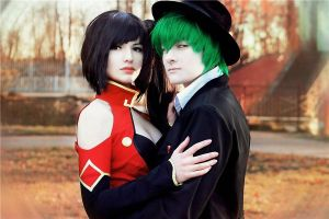 Litchi and Hazama together by Sasuko555