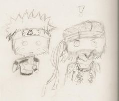 Snake and Naruto by eternal-darkness7