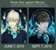 DRAW THIS AGAIN MEME by gxo