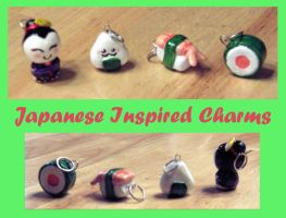 Japanese Inspired Charms by Geisha-Neko