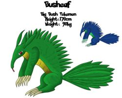 Fakemon 003 - Busheaf by RaptorRexIII