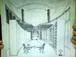 Manga sketches : Library Interior by ARCEL-16