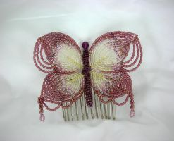 Butterfly Haircomb by Lady-Blue
