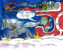 WingedHippocampus' Christmas Sleigh by Gojira007