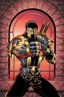 Mortal Kombat: Scorpion by BlondTheColorist
