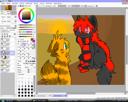 spotty x grin commish so far by Freckled-Kat