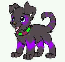 Black Light Puppy hatched from icemintsongs egg by BgDemonDog
