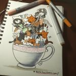 Cup Of Kitties by MarieJane67777
