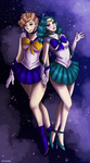 Sailor Uranus and Neptune by Vandalaire