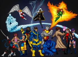 xmen poster colour by belgerles