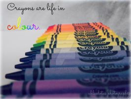 Crayons by abluelotus