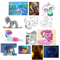 MLP sketches from my tumblr by Raikoh-illust