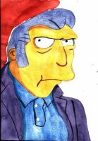 Fat Tony - watercolor by Eddie-Lou-Fan