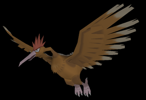 Fearow papercraft model by javierini