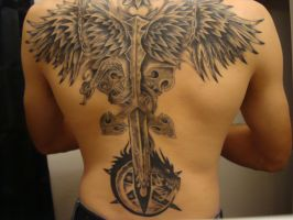Back Tattoo by SilentSigil