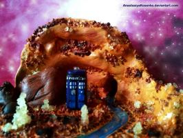 Doctor Who - Amber planet and the TARDIS by AnastasiyaKosenko