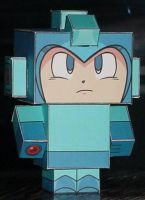 Megaman Cubee by paperart