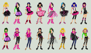 Emo Girl Dress Up. All Suits by TricksterGames